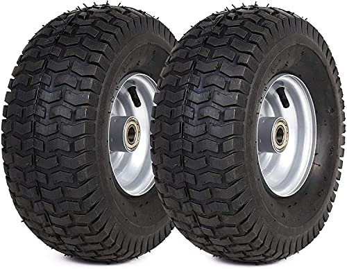 (2 Pack) 15 x 6.00-6 Tire and Wheel Set –...