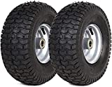 (2 Pack) 15' x 6.00-6' Tire and Wheel Set - for Lawn Tractors with 15' Wheels with 3/4' Bearings