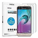 [2-Pièces] Samsung Galaxy J3 2016 Film Protection Verre Trempé [5.0 Pouces] OMOTON Ecran Protecteur [9H Dureté] [Sans Bulles]