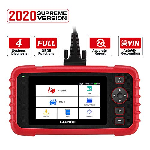 """LAUNCH Code Reader CRP123X OBD2 Scanner Scan Tool for ABS SRS Transmission Engine Code Reader Car Diagnostic Tool with Battery Test, Android 7.0 Based, 5.0"""" Touchscreen, AutoVIN, Wi-Fi Free Updates"""