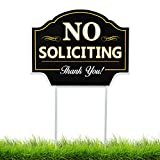 No Installation Required - Simply stick the Signs Authority No Soliciting Sign into the wet or soft ground and you're done! Stop Unwanted Visitors- This no soliciting sign is well made and easy to read. The message is straightforward and it's a great...