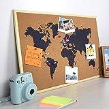 OOTB - Lavagna in sughero, mappa del mondo, ca. 40 x 60 cm