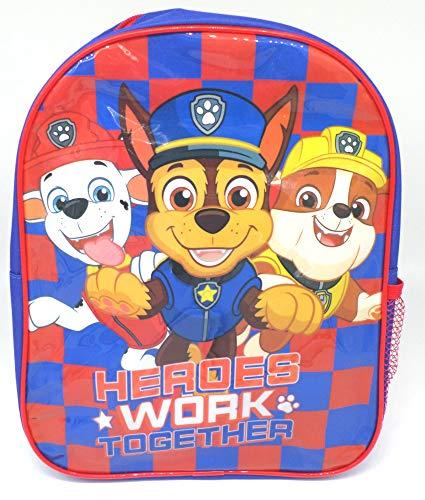 TDL Paw Patrol Mochila par Niños - Licenciado Oficialmente - 30 cm - Correas Ajustables - Red Lateral - Backpack