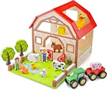 New Classic Toys - 10850 - Bauernhof Spielset - Holz