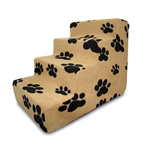 Best Pet Supplies ST215C-M Foam Pet Stairs/Steps, 4-Step, Beige