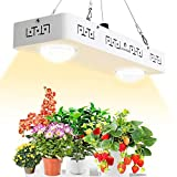 CANAGROW CREE CXB3590 COB LED Grow Light Full Spectrum, LED Grow Light for Indoor Plants, Dimmable MEANWELL Driver, Wide Angle Glass Lens, and Ultra Quiet Cooling Fan. Designed for Special Plants