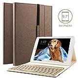 boriyuan IPad Air Bluetooth Tastatur Hülle, Stand Folio PU Hülle mit 7 Farben hinterleuchtet...