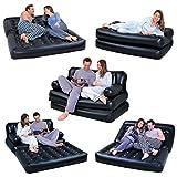 Aufblasbare Luftmatratze/Schlafsofa/Couch/Bett, 5-in-1, Schwarz