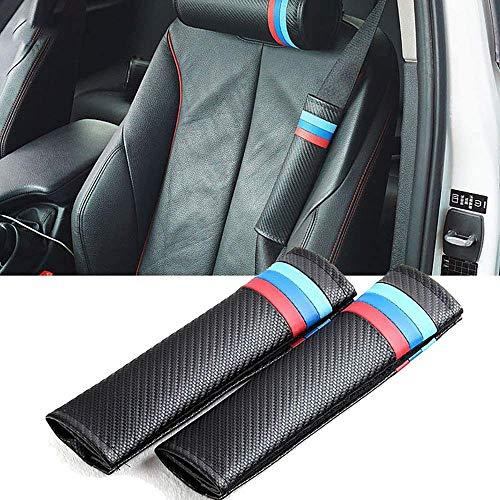 LFDSBLJ 2 Piezas Fundas De Protección Acolchado De Seguridad Automóvil, para M e90 e46 e39 e60 f30 f10 f34 x3 x4 x5 e70 f15 x6 M3 M5, Almohadillas para Cinturón Hombro, Cojines La Correa
