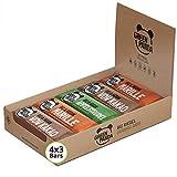Barrette vegane, Snack Paleo vegano puro, crudo e con ingredienti biologici, Barrette energetiche 12x30 in un Box di Green Panda (3 gusti diversi) (Tutti e 3 i gusti)