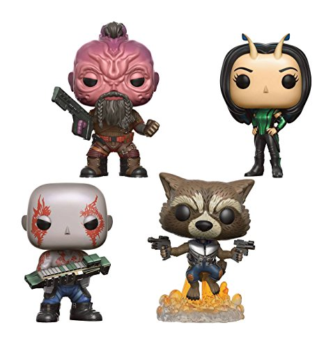Funko POP! Marvel Guardianes de la galaxia 2: Drax + Rocket + Taserface + Mantis