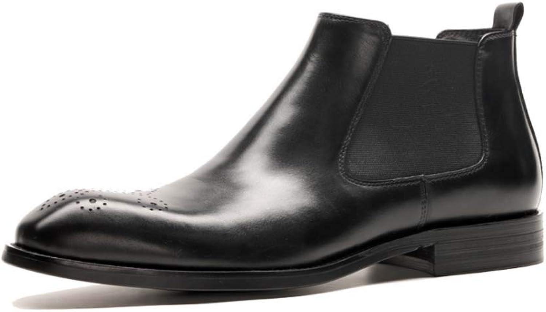 HYLFF Men Brogue British British British Short Boot Fashion Solid Thick Heel Zipper Martin Short Boots Round Toe Shoes Chelsea Ankle Boots,Black,43EU B07LF17CHK  4ed5e6