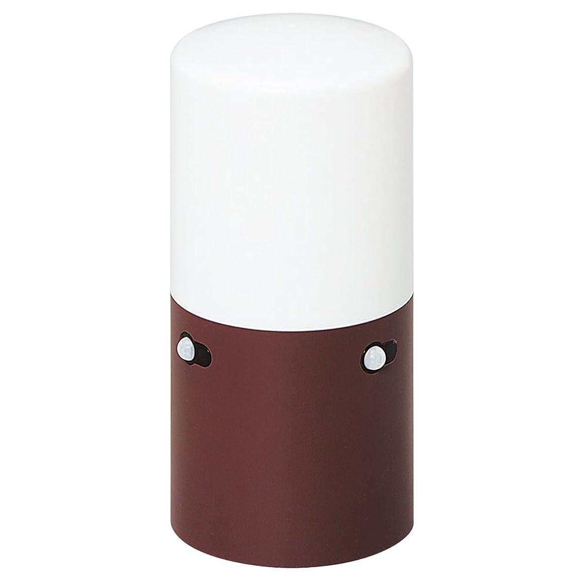 どんなときも保存保証するアイリスオーヤマ センサーライト スリム ガーデン ブラウン LSL-MS1