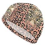 Gorro de natación Uosliks con un bozal de leopardo para mujer