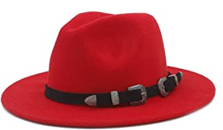 Xiang Ye Wool Women Men Wide Brim Fedora Hat For with The punk style