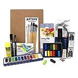 Artway - Kit de Artes plásticas - Ideal para la ESO y Bachillerato - Tamaño A4