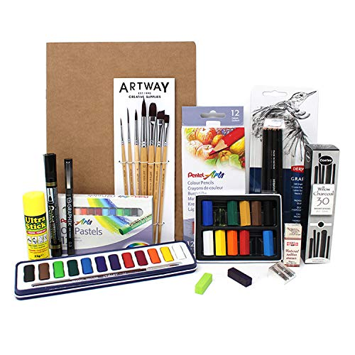Artway Art Kit - Ideal for GCSE and A-Level Creative/Art Courses - A4