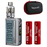 VOOPOO DRAG 3 KIT with TPP タンク ドラッグ 3 + Vapcell S30 INR18650 3000mAh 2本セット (Prussian Blue)