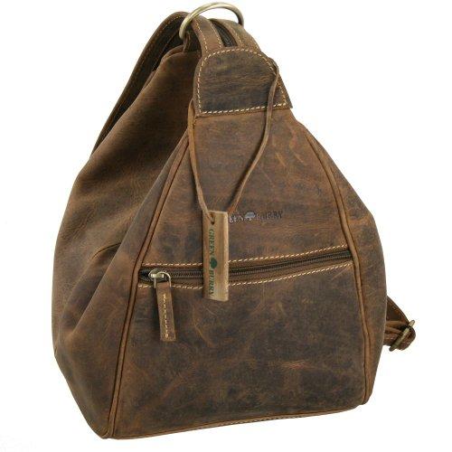 Greenburry Vintage Rucksack Leder 26 cm, Braun, Einheitsgröße