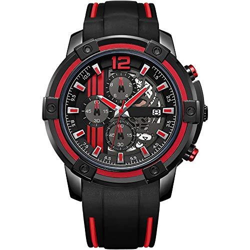 Voigoo Original Big Chronograph Herren Sportuhren Silikon-Militär Quarz-Armbanduhr-Männer Uhr Relogio Masculino Reloj Dial