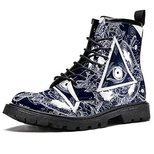 All Seeing Eye On Pyramid Prints - Botas de nieve para hombre, adolescente, con cordones, color Multicolor, talla 44 EU