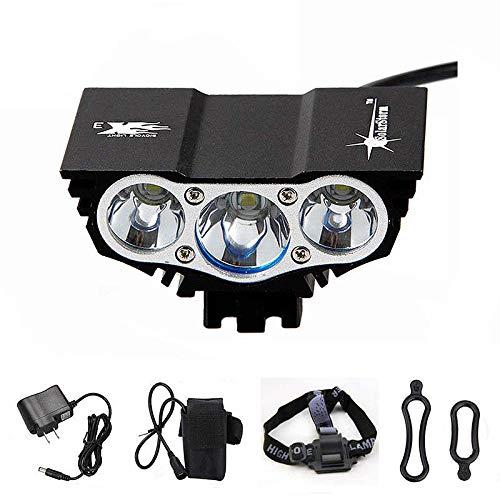 WWWNNUUUX LED Fahrrad Licht Set, USB wiederaufladbare IP65 Fahrrad Licht super helle 1600 Lumen DREI Modi Berg Licht Rücklicht Weitwinkel,British