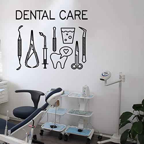 Zxdcd verwijderbare tandheelkundige muursticker tandheelkundige zorg Logo muur Decal tandarts glimlach gereedschap muur venster poster tanden centrum decoratie Ay1423