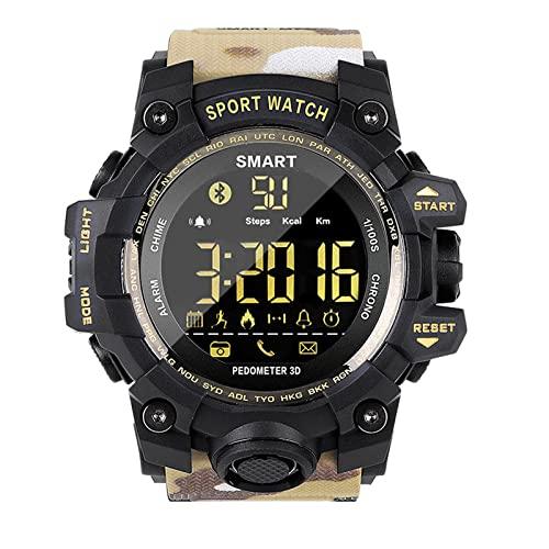 XQPK Nuovo MK28 Smart Watch Impermeabile Fitness Tracker Pedometro Promemoria Bluetooth Smart Watch 12 Mesi Standby Ios Android (B)