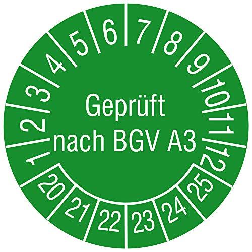 Labelident Mehrjahresprüfplakette Geprüft nach BGV A3