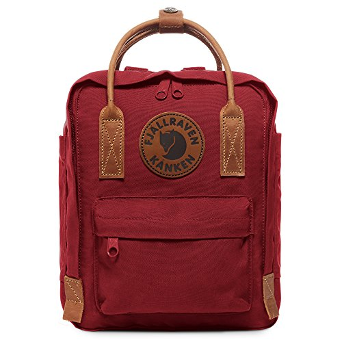 Fjallraven, Kanken No. 2 Mini Backpack for Everyday Use and Travel, Deep Red