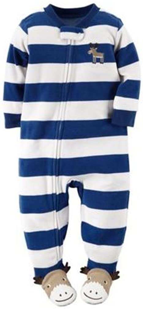Carter's Baby Boys' Holiday Microfleece 1 Piece Footed Sleeper Pajamas