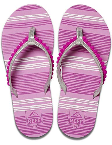 Reef Girls Kinder-Sandalen Zehentrenner Sandels »AHI« Pom Pom Orchid Gr.35/36