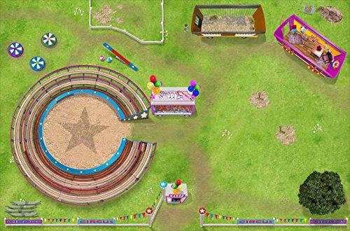 Stikkipix Zirkus Teppich | SM14 | Hochwertige Spiel-Matte für das Kinder-Zimmer | ideales Zubehör zu Spiel-Figuren von Schleich, Playmobil, Papo, Bullyland & Co | 150 x 100 cm