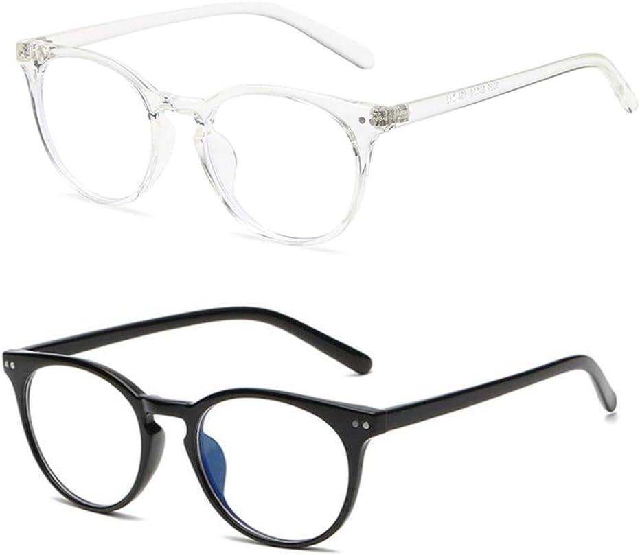 Round Blue Light Blocking Glasses Vintage for Women Men Approved Anti Blue Ray Computer TV Reading Cut UV400 Eye Glasses