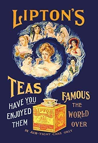 Liptons Lipton's Teas Tea Tee Ladies Blechschild Metallschild Schild gewölbt Metal Tin Sign 20 x 30 cm