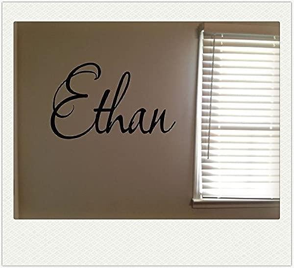 Ethan Boys Room Name Nursery Baby Kids Vinyl Wall Art Quote Sticker