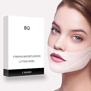 V Line Lifting Mask Chin Up Patch V Shape Face Lifting & Double Chin Reducer Intense Lifting Mask Neck Mask V Shape Face Mask for Firming Moisturizing Face & Neck Lift,5 Per Pack