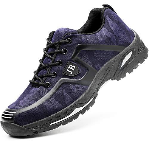 Herren Sicherheitsschuhe Herren Damen Arbeitsschuhe S6 Industrie Handwerk Schuhe Stahlkappe Schuhe Einstichresistent Bauschuhe Unisex Größe
