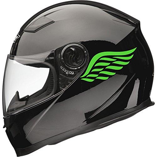 Adhesivo para Casco de Moto Color Verde 100 mm x 115 mm Xaevon