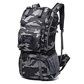 Mountaintop 40 Liter Hiking Backpack with Rain Cover for Outdoor Camping  Urban camouflage