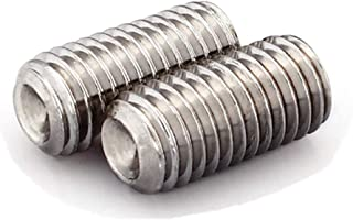 Stainless Steel A2 Allen Socket Drive Cup Point M2.5-0.45 x 5MM Socket Set Screws Bright Finish Quantity 50 By Fastenere Full Thread Din 916
