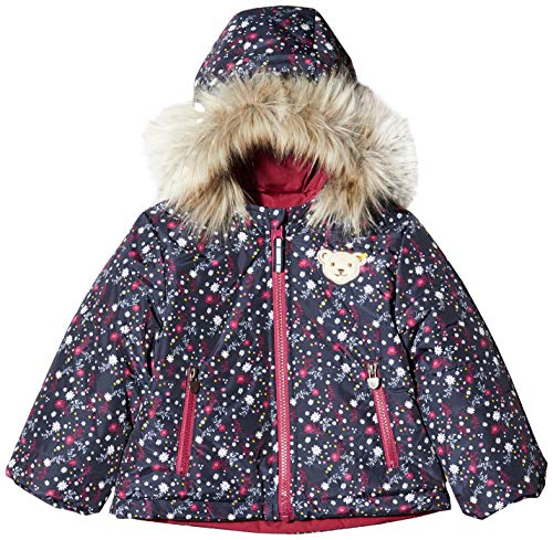 Steiff Baby-Mädchen Jacket Reversable Jacke, Rot (BEET RED 4010), 80 (Herstellergröße:80)