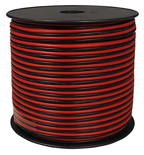 toolcity Lautsprecherkabel (Zwillingslitze) 2x1,50mm² (Boxenkabel/Audiokabel) 100 m rot/schwarz