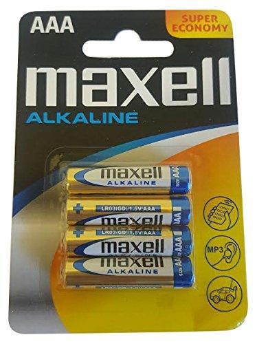 Maxell 723671.60.CN Alkaline Batterie, Micro AAA, 4er Blister