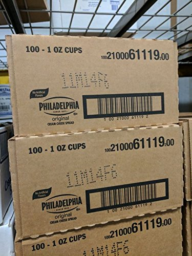 Kraft Philadelphia Original Cream Cheese Cups (100 Pack)