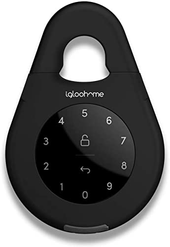Igloohome Keybox 3 Smart Lock Box, Large Key Safe w/ Airbnb Sync - IOS/Android App Remotely Generates Bluetooth-Keys/Pin Codes for 1 Time Use, Recurring Visits, and Exact Dates/Times Without Internet