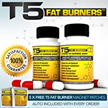 x2 T5 Fat Burners Strongest Legal Diet Weight Loss Pills 2 Month Supply 5 Free T5 Fat Burning Patches