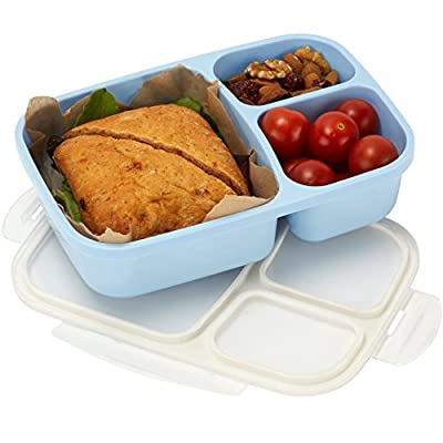Leakproof, 3 Compartment, Bento Lunch Box, Food Storage Container