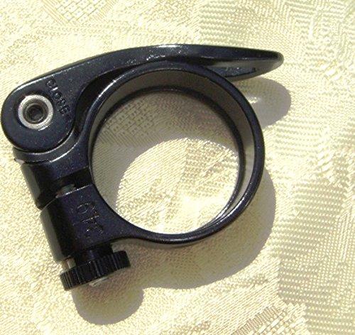 CarbonEnmy Alu Fahrrad Sattelklemme schnellspanner Saddle clamp 31,8mm (Schwarz) - 2