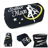 Estuche de anime Sailor Moon Bolsa de Lápiz Lapicero Lapices Pencil Case Portalapices Neceser Maquillaje para Material de Papelería con para Estudiantes en Escuela